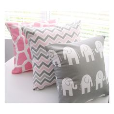 Beach Nautical Chevron Initial Art Print Set Pink Gray Nursery Girl... ❤ liked on Polyvore