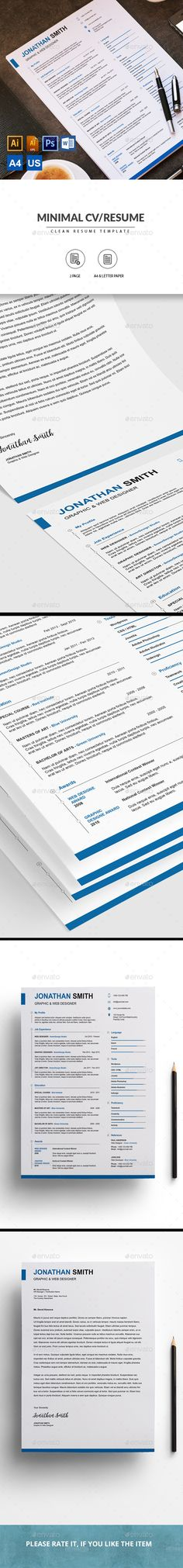 Resume - Resumes Stationery Download here    graphicriver - us format resume