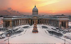 View to Kazan Cathedral by Ivan Smelov - Empire style - Wikipedia, the free encyclopedia