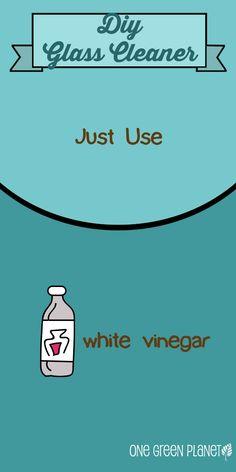 DIY Glass Cleaner #livegreen #DIY