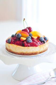 Käsekuchen vegan glutenfrei und fructosearm / Cheesecake vegan, glutenfree and refined sugar free