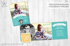 Mom and me mini session template by We♡Loph on Creative Market
