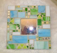 pastel green and blue mosaic stained glass by mosaicsbymargo, $38.86 and in this great treasury http://www.etsy.com/treasury/NzUxMTE1NXwyNzIyNzQ4MDk2/waiting-for-spring