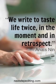 {Love this quote! Thanks for sharing it, Sandra!  www.nextstepediting.com}