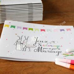 """Le petit livret de jeux """"spécial mariage"""" de Les Petits Cadeaux. Très bonne idée pour occuper les bambins !"""