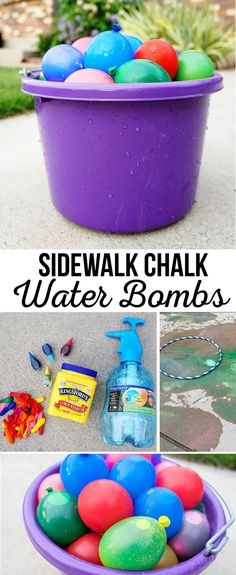 DIY Sidewalk Chalk Water Bombs | Summer Kids Activities