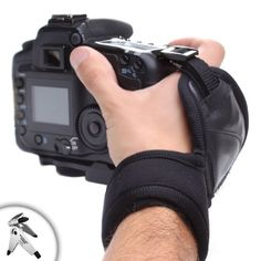 DualGRIP Steady Shot DuraNeoprene Wrist Strap Grip for Nikon D800 , D3000 , D3100 , D3200 , D5100 , P510 , L810 and Many More Nikon DSLR and Micro Four Thirds Cameras ** Includes Microfiber Cloth and Brush! **
