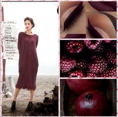 Abito in jersey di lana  jacquard...burgundy colore ispirato dalla natura....Mariella Arduini Burani