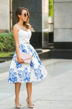 Floral Skirt Chic Style