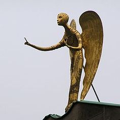 Ewald Mataré (February 1887 – March was a German painter and sculptor. Angel Pictures, Folk Art, Modern Art, Religion, Wings, Celestial, Creative, Statues, Crosses
