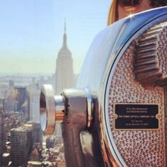 The #iconic Empire State Building as seen from the Top of the Rock. Photo courtesy of wanderinghannah on Instagram.