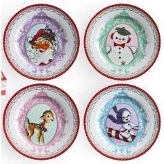 Rosanna Christmas Cameo Plates (Set of 4)