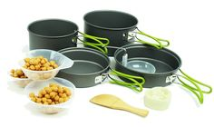 Wealers 10pcs Foldeble Outdoor Camping Hiking Cookware Backpacking Cooking Picnic Bowl Pot Pan Set * Click image to review more details.
