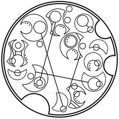 """It does not do to dwell in dreams and forget to live"" written in circular Gallifreyan requested by hello-sweetie-426"