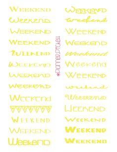 Free Weekend Printable Stickers