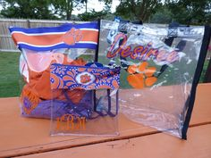 Clemson Girl - Win a Clemson clear gameday tote with customization of your choice.