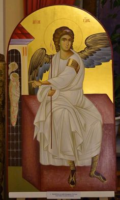 Risultati immagini per holy places Archangel Gabriel, Archangel Michael, Byzantine Icons, Byzantine Art, History Icon, Art History, Religious Icons, Religious Art, Angel Images