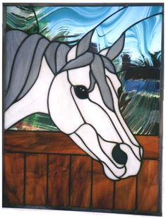 stained glass horse