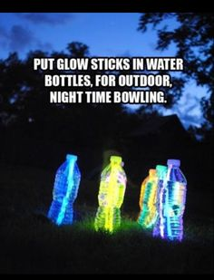 Glow Bowling. This should happen in Dreamville...