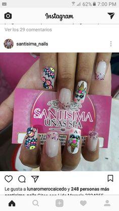 Instagram, Nails, Beauty, Mandalas, Finger Nails, Beleza, Ongles, Nail, Nail Manicure