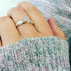 Nothing dresses up a fall sweater quite like a sparkling diamond! Elegant, stunning, and one of a kind- our completely customizable Dimpled Solitaire Ring with sparkling accent stones is the perfect engagement ring or promise ring. Make the ring your own in silver or gold with your choice of gemstones and personalized engraving. The perfect way to say 'I love you'.