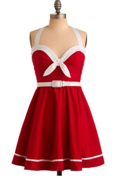 a6e9cce6801 Pinup Couture Sailing Into The Sunset Dress In Cherry