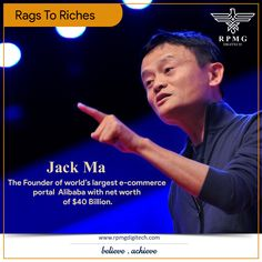 Failed to get into university. Rejected from 30 Jobs. Out of 24, he is the one to get rejected at KFC, China. Two failed ventures. Remember his story whenever you think on giving–up.  #Inspiration #Business #Marketing #RPMGDigitech