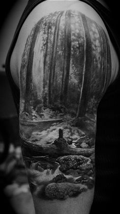 nature tattoo WOW This tattoo is so realistic, it looks like a photo snapshot