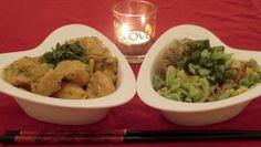 """Poulet au gingembre """" Spécial Saint Valentin"""" et chou chinois au riz thai rouge et gingembre de http://cuisine-sans-gluten-ni-lactose.blogspot.fr/"""