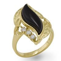 Awesome Gold rings with diamonds Black Coral Paradise Ring with Diamonds in 14K Yellow Gold - Large  $... Check more at http://24store.ml/fashion/gold-rings-with-diamonds-black-coral-paradise-ring-with-diamonds-in-14k-yellow-gold-large-015-06175/