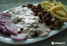 Gyros tál párolt zöldségekkel Naan, Wok, Hamburger, Cabbage, Favorite Recipes, Beef, Chicken, Vegetables, Cooking