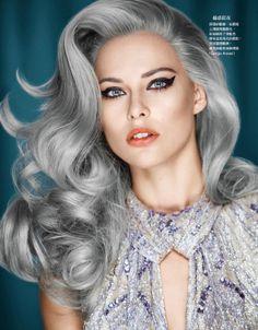 Edgy Holiday Beauty Editorials - The Vogue Taiwan 'X'mas Look' Photoshoot Stars Lana Zakocela (GALLERY)