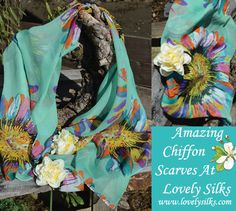 #Chiffon Scarves - #April 2016 Offer, buy one chiffon scarf and get a second for free. Treat yourself today and a friend too. Hurry while stocks last! Visit:http://www.lovelysilks.com