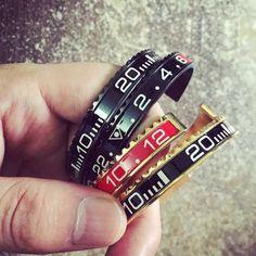 Hot Sale Ltalian Style New Fashion Jewelry 316L Stainless Steel cuff Bracelet Speedometer Official Bracelet Men 11 Color (1pcs)