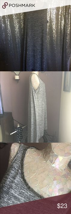 Juicy Couture Jewel Scoop Neck Hi-Low Rayon Maxi Retails for $58.00 Juicy Couture Dresses High Low