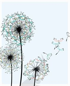 dandelion outline | dandelions design 36 dandelions as a kid i always loved the seeds of ...