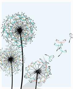 dandelion outline | dandelions design 36 dandelions as a kid i always loved the seeds of ...
