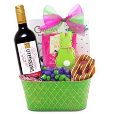 Pretty in pink easter wine basket products i love pinterest easter joy red wine gift basket negle Image collections