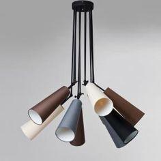 Lampa wisząca z 10 kloszami Kare Design Speaker Kare Design, Pendant Lamp, Ceiling Lights, Lighting, Home Decor, Product Design, Skirt, Board, Chandeliers Modern