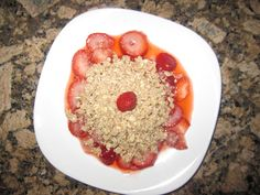 My new fav snack or bfast: I slice organic strawberries, add a squeeze of fresh Meyer lemon, warm in the microwave for 45 seconds, and lightly mash to release some of the juice. For a 'crumble' topping I combine 2 Tbsp almond butter with a 1/4 C rolled oats and work with my fingers until the texture is uniform. So delicious! To fit the '5 piece puzzle' principle from my newest book S.A.S.S! Yourself Slim enjoy with a cup of organic skim milk or plant-based milk (or 'spend' the milk in a…