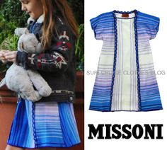 Suri Cruise wearing a Missoni dress on Suricruiseclothes.blogspot.it