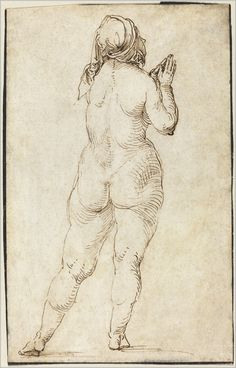 Seven Centuries from the Woodner Collections Celebrated at National Gallery of Art, March 2017 - Alain. Sketch Painting, Figure Painting, Drawing Sketches, Art Drawings, Pencil Drawings, Human Figure Drawing, Figure Sketching, National Gallery Of Art, Albrecht Durer