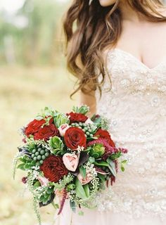 Red and gold wedding inspiration.