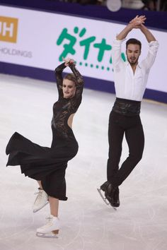 Gabriella Papadakis & Guillaume Cizeron of France  performing their short dance at Cup of China 2014