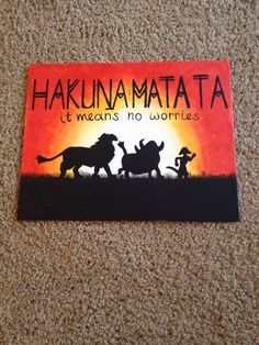 painting canvases the lion king Ideas disney art painting canvases the lion king Ideas Hakuna Matata Lion King silhouette Handmade Canvas Quote Art Disney Canvas Paintings, Disney Canvas Art, Art Disney, Mini Canvas Art, Easy Canvas Painting, Cute Paintings, Disney Kunst, Canvas Canvas, Disney Ideas