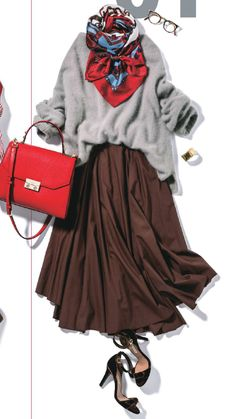 Grey Fashion, Minimal Fashion, Womens Fashion, Skirt Fashion, Hijab Fashion, Fashion Outfits, Japanese Fashion, Korean Fashion, Stil Inspiration