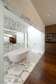 Marble, Wood & Glass.