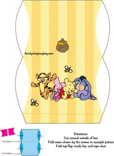 Free Printable Winnie the Pooh and Friends Favor Box