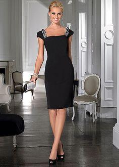 Instant eye-catching details set this dress a part from the rest! Venus shoulder detail dress.