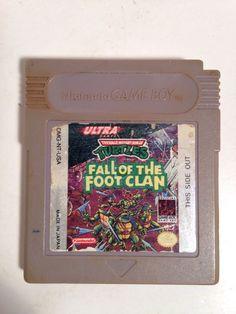 Vintage Ultra Teenage Mutant Ninja Turtles Fall of The Foot Clan Game Boy 1990 | eBay
